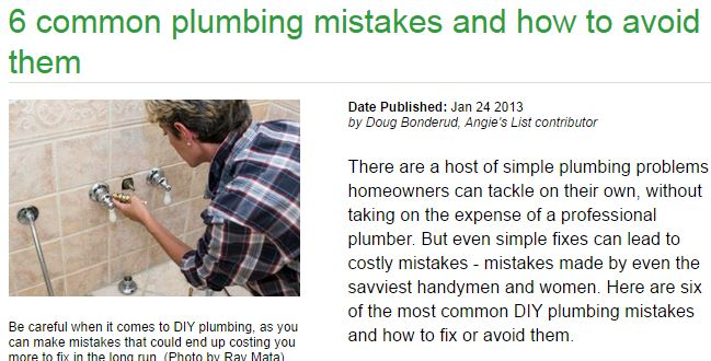 6 common plumbing mistakes and how to avoid them