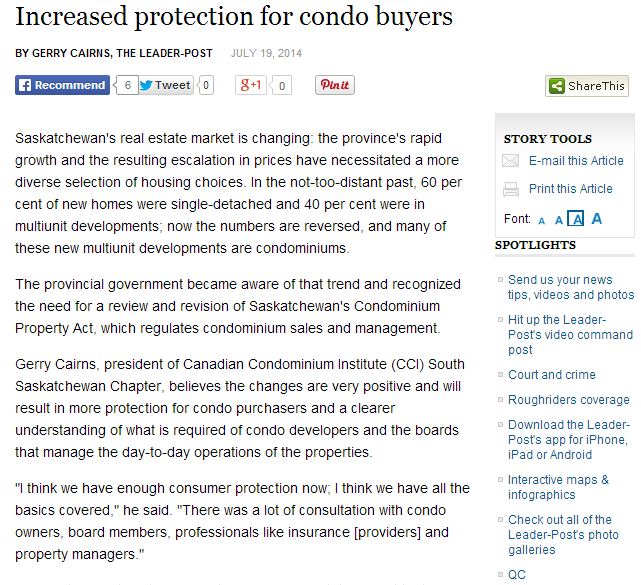 increased protection for condo buyers
