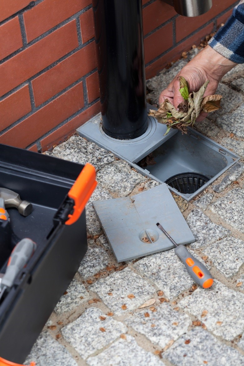 Why you should clean your underground gutter drains and for Downspout drain